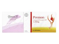プレモン1.25mg56錠1箱+クリマラ(Climara)100-4パッチ1箱