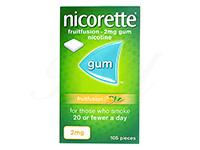 ニコレットガム(NicoretteGum)2mg[フルーツフュージョン味]