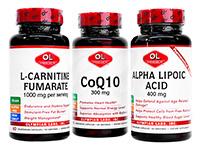 コエンザイムQ10 1本 + アルファリポ酸1本 + L-カルニチン1本[オリンピアンラボ社製]