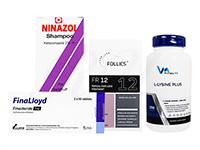 フォリックスFR12ローション60ml1本 + フィナロイド1mg30錠1箱 + ニナゾルシャンプー1本 + Lリジンプラス250錠1本