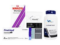 フォリックスFR15ローション60ml1本 + フィナロイド1mg30錠1箱 + ニナゾルシャンプー1本 + Lリジンプラス250錠1本