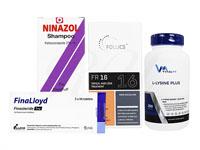 フォリックスFR16クリーム60ml1本 + フィナロイド1mg30錠1箱 + ニナゾルシャンプー1本 + Lリジンプラス250錠1本