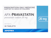 [メバロチンジェネリック]プラバスタチン(Apo-Pravastatin)20mg