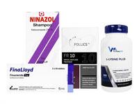 フォリックスFR10ローション60ml1本 + フィナロイド1mg30錠1箱 + ニナゾルシャンプー1本 + Lリジンプラス250錠1本